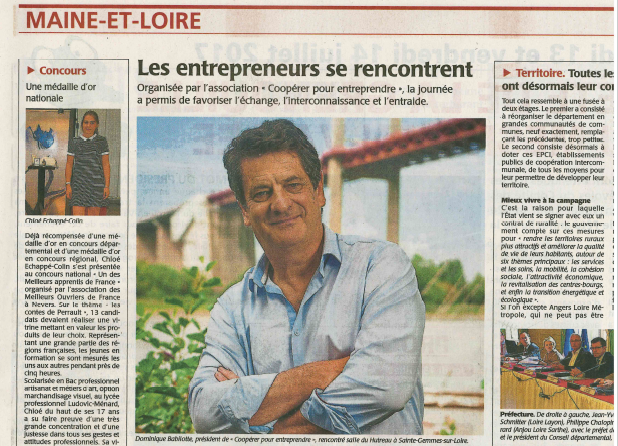 article de presse Dominique Babilotte_a la une