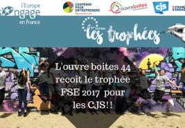 L'ouvre boites 44 recoit le trophé FSE 2017