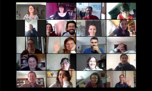 visioconférence entrepreneurs et équipe d'appui