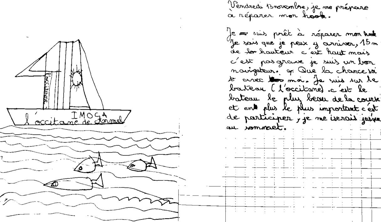 Vendée Globe - travaux d'élèves
