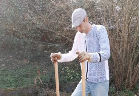 Noureddine Sahraoui, potagiste à CoopChezVous et animateur permaculture à l'Ouvre-Boîtes Vendée